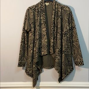 Lily White Cardigan African Print Size M Comfy